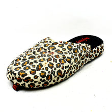 Load image into Gallery viewer, Open back slippers with leopard print detail