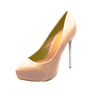 High heel court shoes with metal stiletto heel