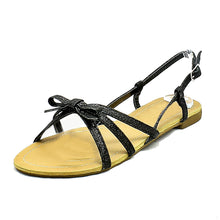 Load image into Gallery viewer, Glitter strappy flat sling back sandals