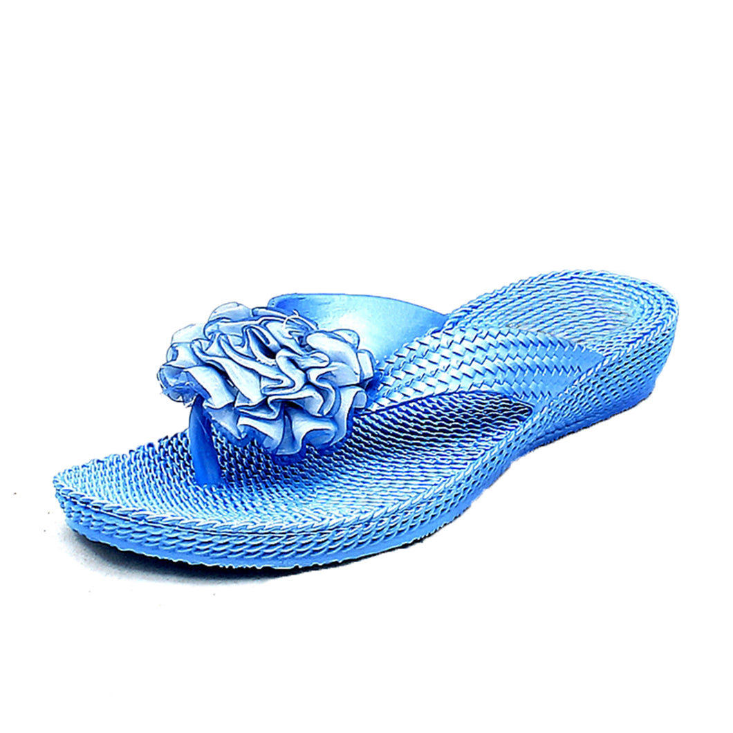 Rubber rosette rippled foot flip flops / sandals - CLEARANCE