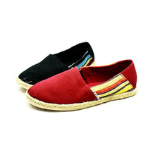 Load image into Gallery viewer, Canvas espadrilles / pumps with side stripes