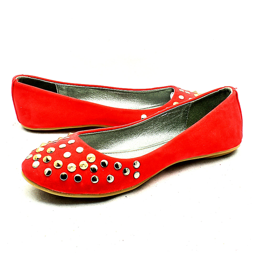 Coral Suedette flat shoes / Pumps