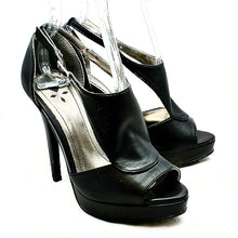 Load image into Gallery viewer, High heel platform shoes with peep toe and open sides