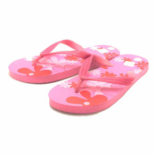 Flip flops / holiday sandals with flower pattern