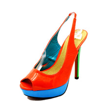 Load image into Gallery viewer, Platform peep toe sling back sandals / shoes