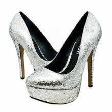 Load image into Gallery viewer, Concealed platform high heel evening shoes