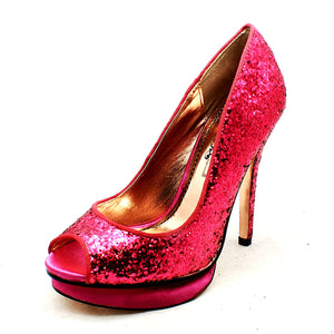 Glitter / Sparkly High heel open toe party shoes