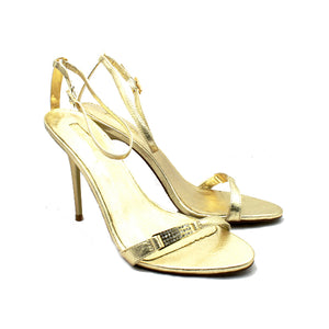 Minimalistic stiletto sandals / evening shoes with ankle strap