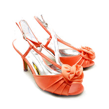 Load image into Gallery viewer, Luxury satin high heel rosette toe shoes