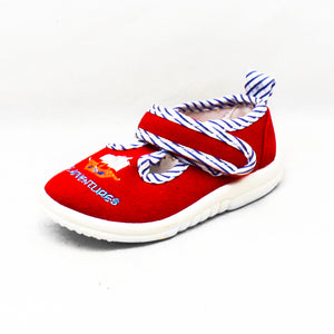 Canvas adjustable fastening pirate pumps infants