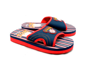 Boys Foam beach sliders with baseball to front