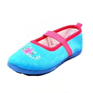 Childrens Fleece slippers with elastic strap and stars -CLEARANCE