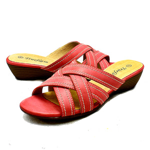 Low wedge open toe comfort sandals