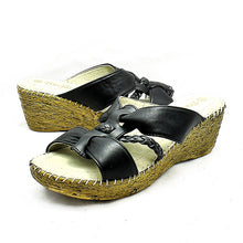 Load image into Gallery viewer, Comfort cushioned wedge heel sandals
