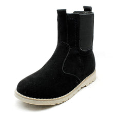 Load image into Gallery viewer, Older Boys suedette gusset side Chelsea Boots