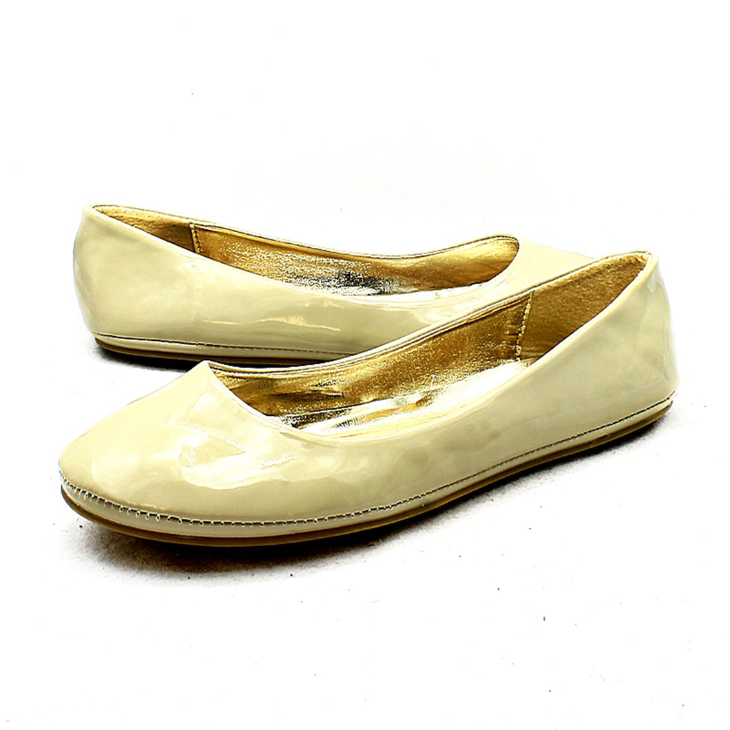 Flat plain ballerina shoes / pumps