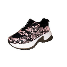 Load image into Gallery viewer, Black chunky style croc effect lace up trainers