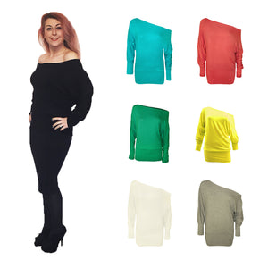 Off shoulder / Bardot Style long sleeve top