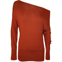 Load image into Gallery viewer, Off shoulder / Bardot Style long sleeve top