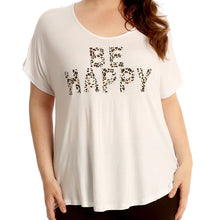Load image into Gallery viewer, Loose fitting be happy short sleeve tshirt