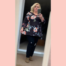 Load image into Gallery viewer, Long Sleeve Floral Swing top - Plus Sizes Too