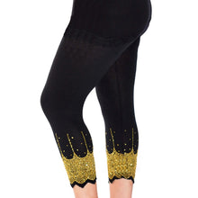 Load image into Gallery viewer, Leggings with sparkly scallop hem - Plus Sizes too