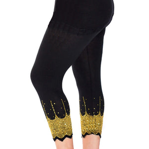 Leggings with sparkly scallop hem - Plus Sizes too