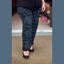 Load image into Gallery viewer, Black / Grey cotton harem trousers elasticated waist