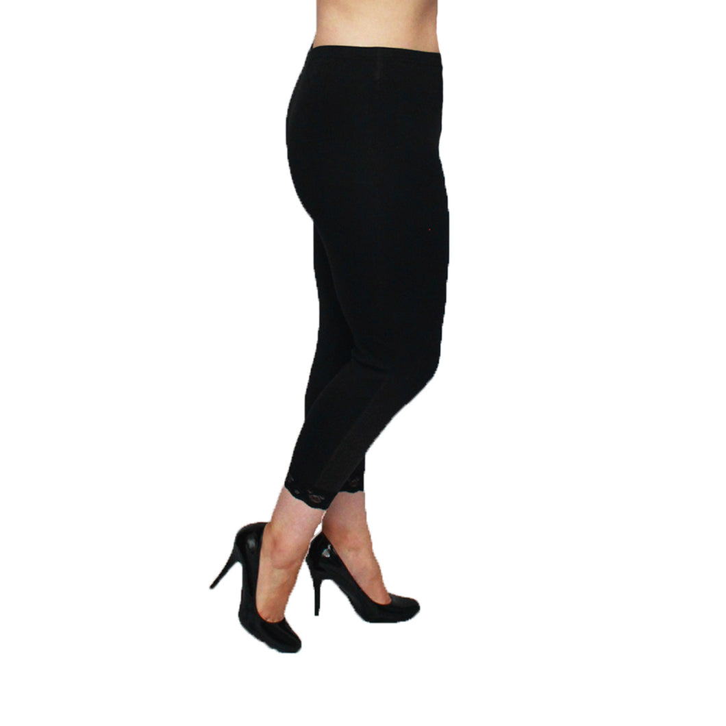 leggings with lace hem - plus sizes too