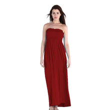 Load image into Gallery viewer, Strapless boob tube summer maxi dress