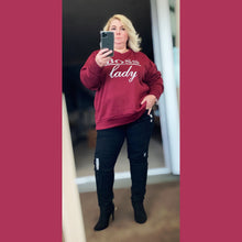 Load image into Gallery viewer, Boss-Lady long sleeve Jumper / sweatshirt - plus sizes too