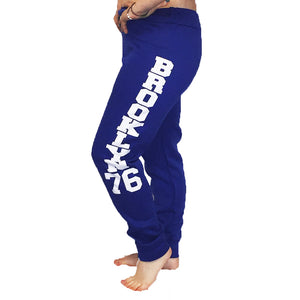 Fleece lined Brooklyn 76 tracksuit bottoms