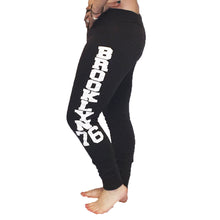 Load image into Gallery viewer, Fleece lined Brooklyn 76 tracksuit bottoms