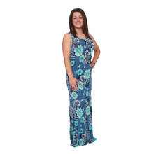 Load image into Gallery viewer, Sleeveless maxi dress with flower print - plus sizes too