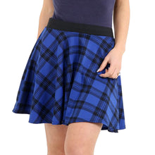 Load image into Gallery viewer, Tartan skater skirt with elasticated waist