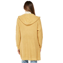 Load image into Gallery viewer, Open Front Herringbone cardigan with hood
