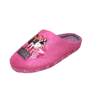 Pink / Grey High School Musical childrens Slippers