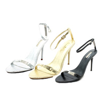 Load image into Gallery viewer, Minimalistic stiletto sandals / evening shoes with ankle strap