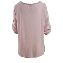 Load image into Gallery viewer, V neck Satin top with studded detail
