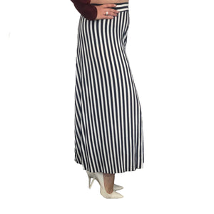 Navy / White Wide leg culottes / trousers with elasticated waist