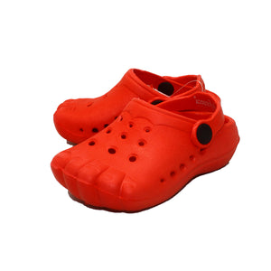 Rubber beach shoes / clog style shoes with toe imprints