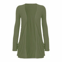 Load image into Gallery viewer, Open front cardi / top with pockets - Plus sizes too