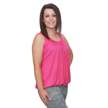 Load image into Gallery viewer, Sleeveless top with pleated scoop neck and elasticated hem