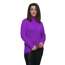 Load image into Gallery viewer, Long sleeve polo neck top - PLUS SIZES TOO