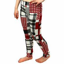 Load image into Gallery viewer, Thick Feel Square checked leggings / skinny Trousers - CLEARANCE