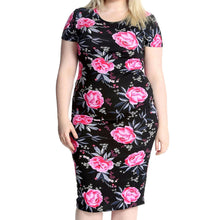 Load image into Gallery viewer, Short sleeve midi dress with short sleeves