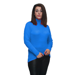 Long sleeve polo neck top - PLUS SIZES TOO