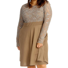 Load image into Gallery viewer, Sequin and lace Skater dress - plus sizes