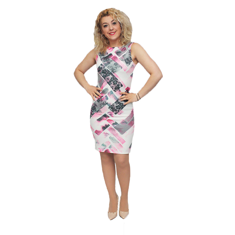 Body sculpture sleeveless fitted body-con dress