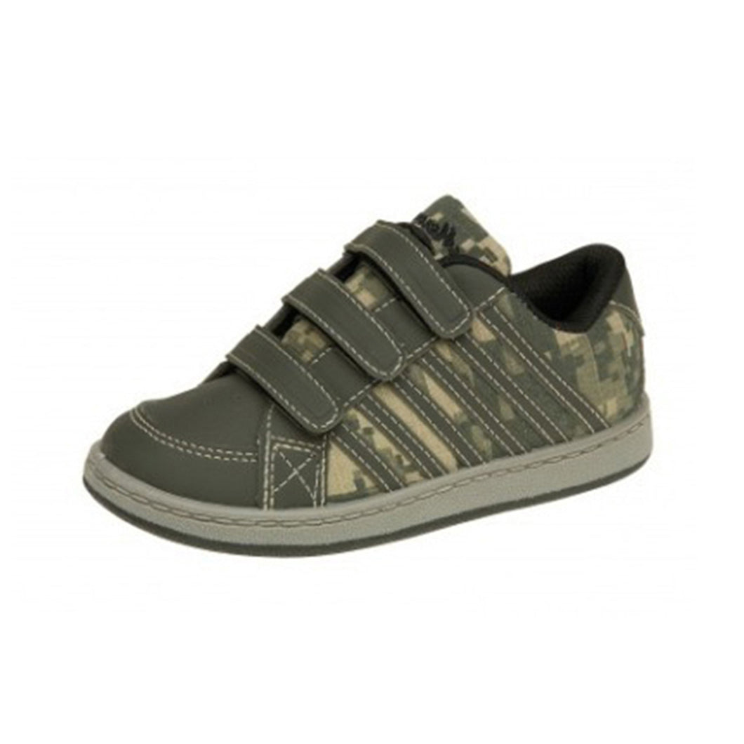 Childrens Army print adjustable fastening trainers Boys